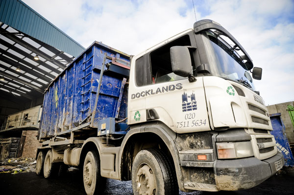 Docklands Waste Recycling rolonoff container